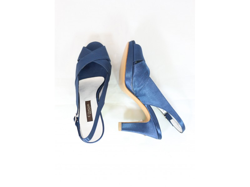Gvyifb76y L'amour Blu Raso Sandalo 717 bgyf76