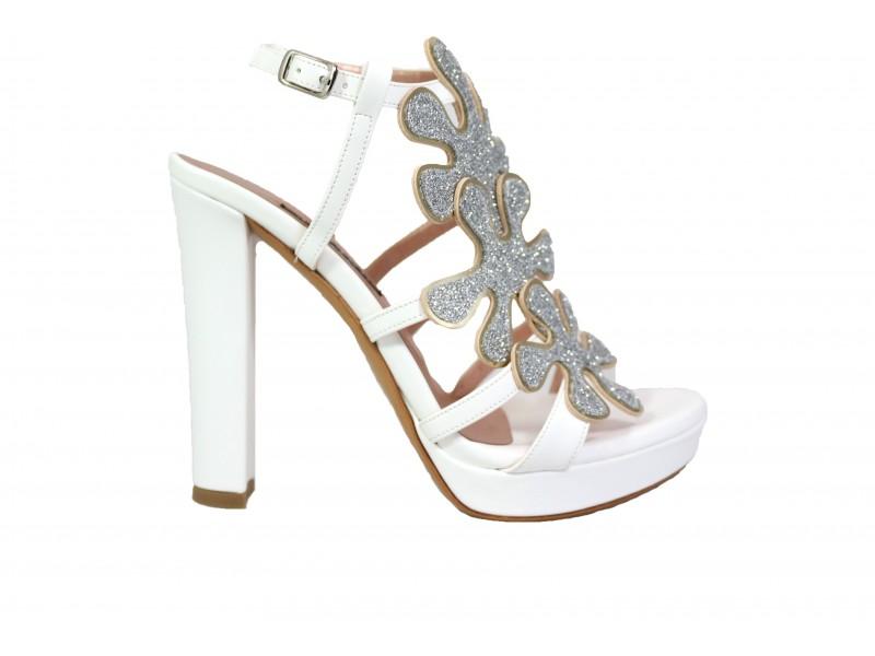 size 40 e35bf d3a05 ALBANO 9877 Sandalo Soft Bianco