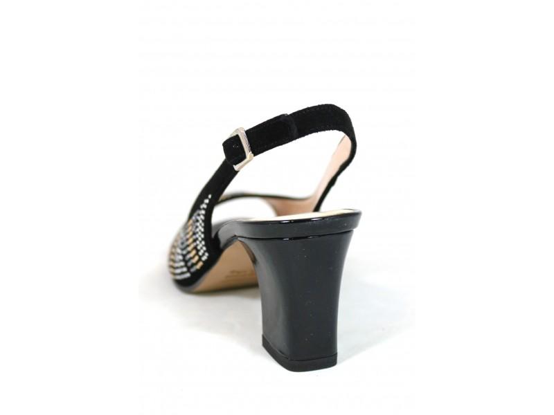 Nero 6862 Sandalo Donna Soft Camoscio m0wyNv8nO